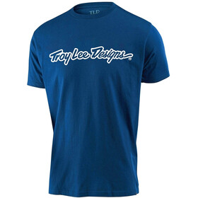 Troy Lee Designs Signature Tee Youth royal blue